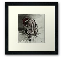 The red-haired woman Framed Print