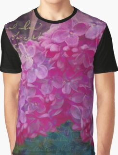 Vintage Lilacs floral garden nature art Graphic T-Shirt