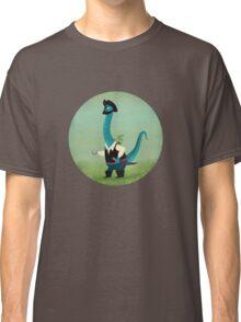 Captain Salty the pirate dinosaur Classic T-Shirt