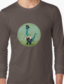 Captain Salty the pirate dinosaur Long Sleeve T-Shirt