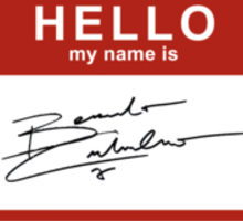 """Hello, my name is Benedict Cumberbatch"" Sticker"
