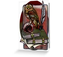a more subdued owl. Greeting Card