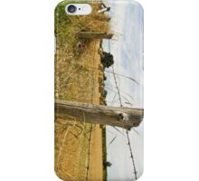 Fence in a Field iPhone Case/Skin