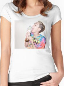 miley cyrus  Women's Fitted Scoop T-Shirt