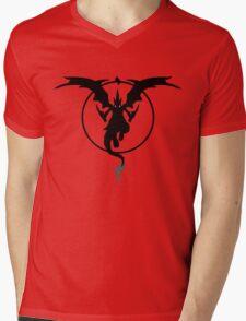 MEGA FIRE RED Mens V-Neck T-Shirt