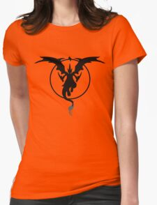 MEGA FIRE RED Womens Fitted T-Shirt