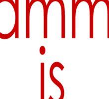 good grammar is sexy Sticker