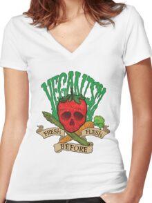 Veganism Women's Fitted V-Neck T-Shirt