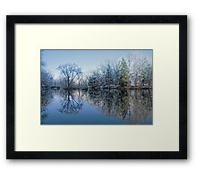 Snowy WinterTree Reflections Framed Print