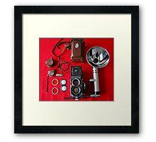Rolleiflex Equipment Framed Print