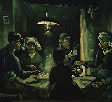 Vincent Van Gogh - The potato eaters 1885 by famousartworks