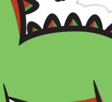 Santasaurus  Sticker