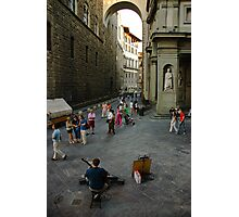 Street musician in Florence Photographic Print