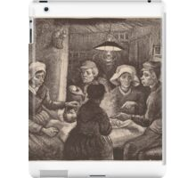 Vincent Van Gogh - The potato eaters 1885 (sketch) iPad Case/Skin