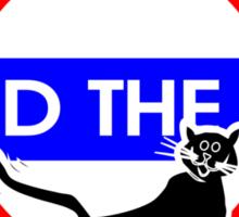 Mind The Cat Sticker