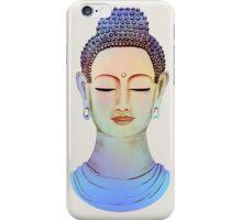 Blue buddha close up iPhone Case/Skin