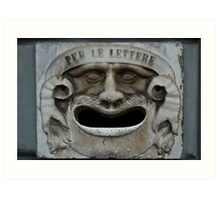 Mail slot in Lucca Art Print