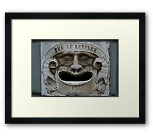 Mail slot in Lucca Framed Print