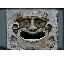 Mail slot in Lucca Photographic Print