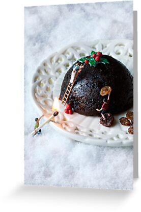 Christmas pudding work man by Bitesized