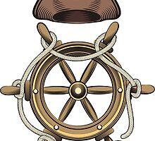 Steering Wheel and Sailor Hat by devaleta