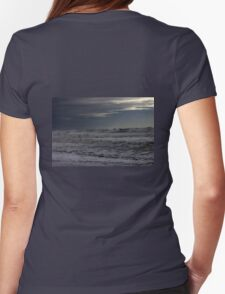Winter storm on the high sea Womens Fitted T-Shirt