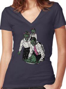 Z-gans Women's Fitted V-Neck T-Shirt