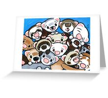16 Ferrets Greeting Card
