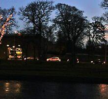 Christmas At The Clock Bridge by Nik Watt