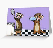 Flying Pancakes Greeting Card