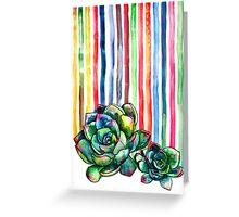 Rainbow Succulents Greeting Card