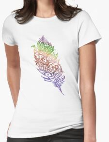 Color feather Womens Fitted T-Shirt