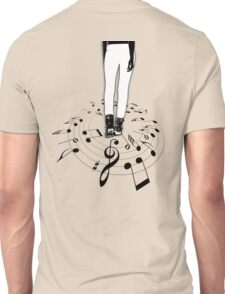 The center of the MUSIC... Black Edition! Unisex T-Shirt