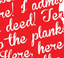 The Tell-Tale Heart by Edgar Allan Poe Sticker
