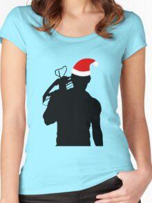 Daryl Dixon Textless Christmas Design (Dark) Women's Fitted Scoop T-Shirt