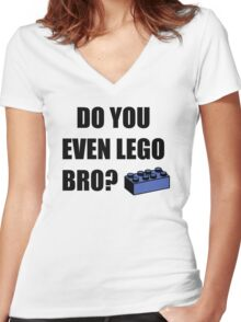 Do you even Lego? Women's Fitted V-Neck T-Shirt