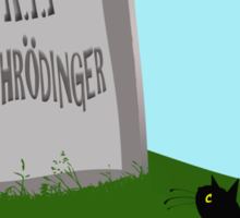 Schrödinger's cat 1 - Schrödinger 0 Sticker