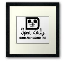 Open Daily Framed Print