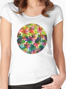 Floral Carpet  Women's Fitted Scoop T-Shirt