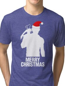 Daryl Dixon Christmas Design (Light) Tri-blend T-Shirt