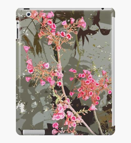 Collections of pink flowers on stems. iPad Case/Skin