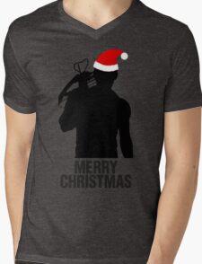 Daryl Dixon Christmas Design (Dark) Mens V-Neck T-Shirt