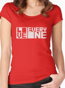 LOVE EVERYONE - Snow Letters Women's Fitted Scoop T-Shirt