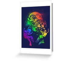 Space Disco Greeting Card