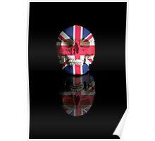 UK Flag Union Jack Skull Poster