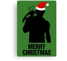 Daryl Dixon Christmas Design (Dark) Canvas Print