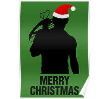 Daryl Dixon Christmas Design (Dark) Poster