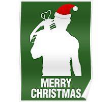 Daryl Dixon Christmas Design (Light) Poster