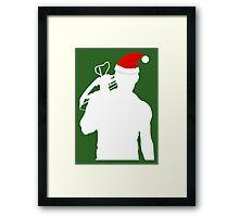 Daryl Dixon Textless Christmas Design (Light) Framed Print