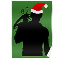Daryl Dixon Textless Christmas Design (Dark) Poster